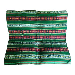 Boho Chic Hand-Woven Bolivian Textile Throw Blanket For Sale