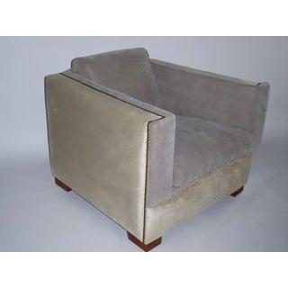 Streamline Moderne Paul Frankl Style Lounge Chair 1940s.