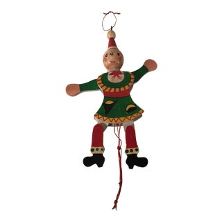 Vintage Holiday Pull Toy Ornament For Sale