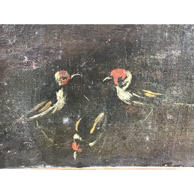 Brown 18th Century Italian Dog Painting For Sale - Image 8 of 11