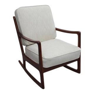 Danish Modern Rocking Chair by Ole Wanscher for France & Daverkosen For Sale