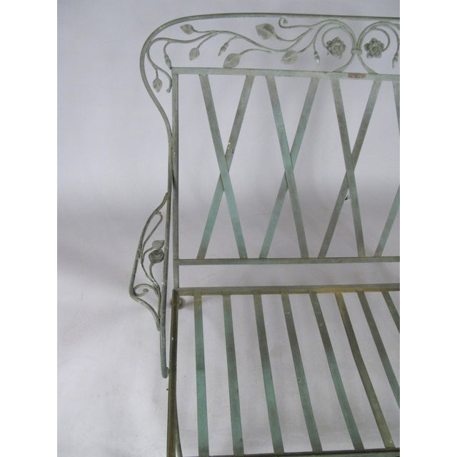 Metal Wrought Iron Settees by Salterini, Circa 1950 - a Pair For Sale - Image 7 of 11