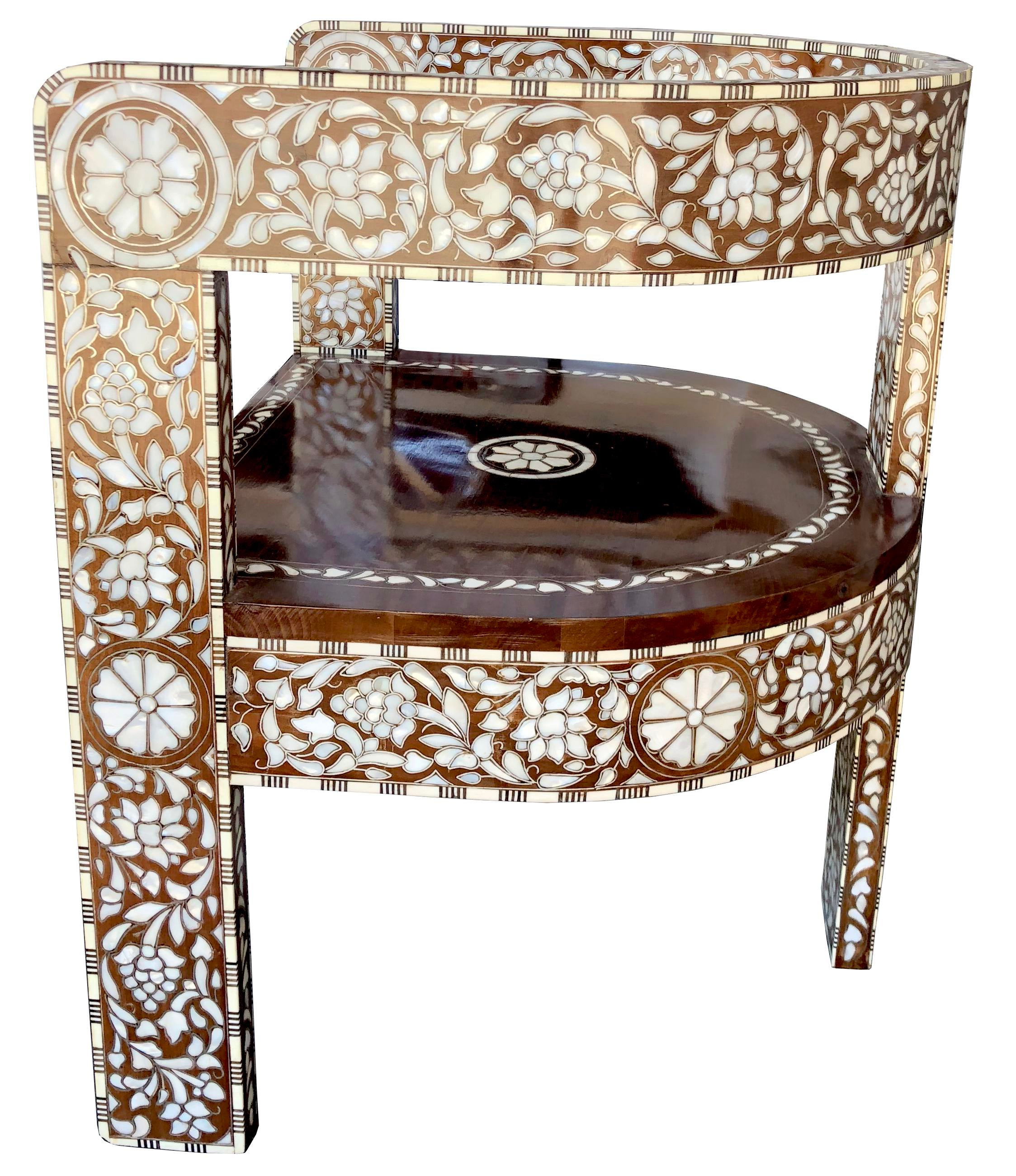 Hand Crafted Mother Of Pearl Inlay Chair. Whether Your House Modern,  Contemporary Or Moroccan