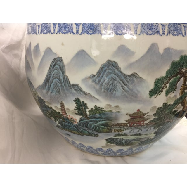 Chinese Fish Bowl Jardiniere For Sale - Image 4 of 10