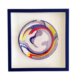 """Roy Lichtenstein """"Paper Plate"""" 1969 Framed For Sale"""