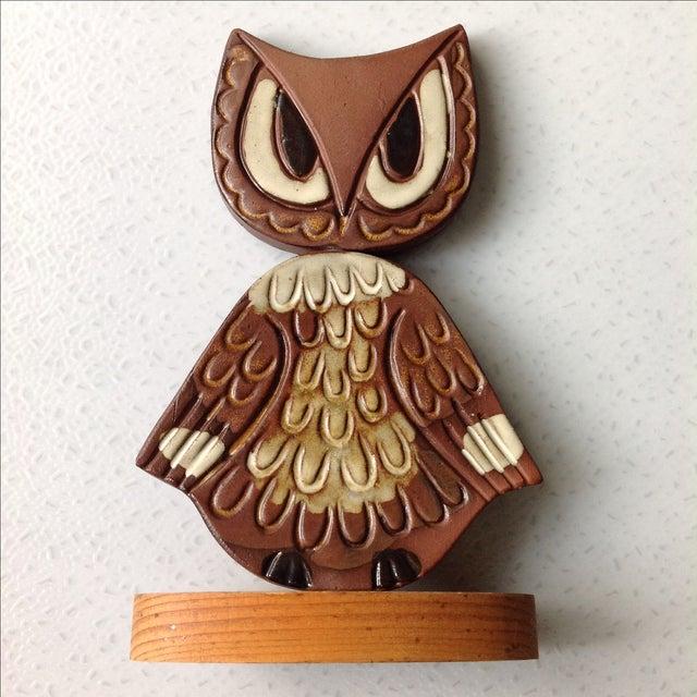 Mid-Century Modern Studio Pottery Owl Sculpture - Image 2 of 9
