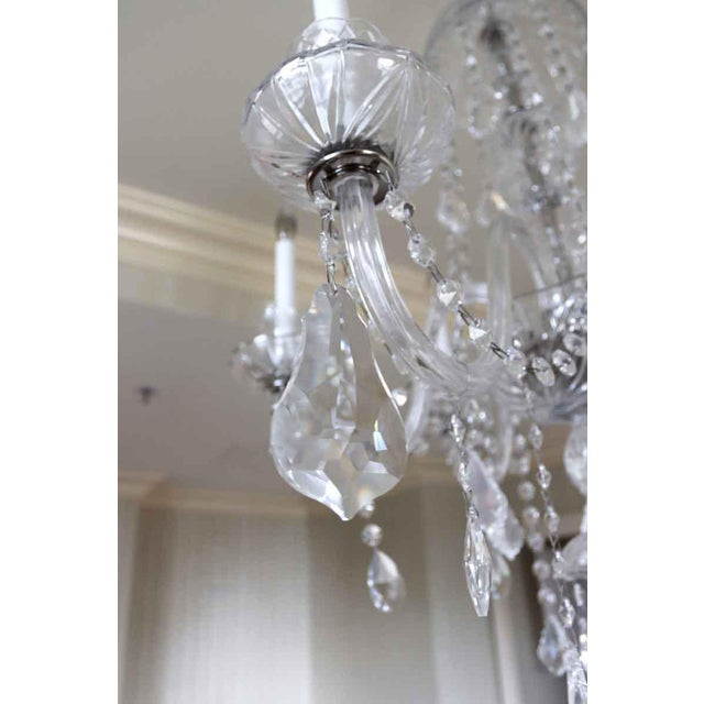 Late 20th Century Salvaged Waldorf Six Glass Arms Crystal Chandelier For Sale - Image 5 of 7