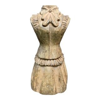 1920s Wood Paper Mache Takaan Dress Form For Sale
