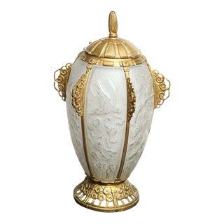 Rare Art Deco Lamp by Sabino For Sale