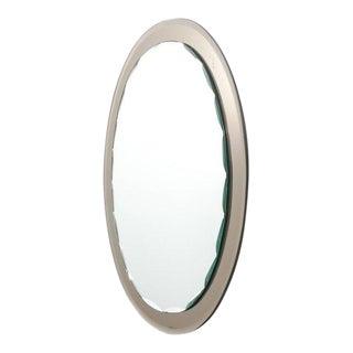 Italian Scalloped Mirror in the Style of Fontana Arte, Italy, 1960