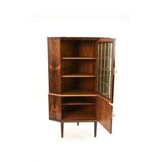 1960's Mid-Century Danish Modern Rosewood Corner Cabinet Preview