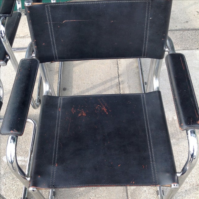 Mark Stam Vintage Cantilever Arm Chairs - Set of 4 - Image 4 of 8