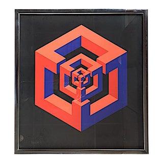 1971 Vintage Jose Maria Yturralde Serigraph Print For Sale