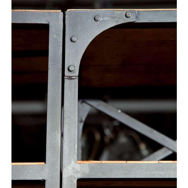 Industrial Wood & Metal Entertainment Center - Image 10 of 10
