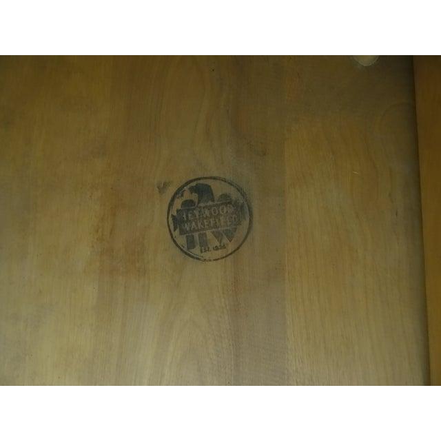 Heywood Wakefield Wheat Gate Leg Drop Leaf Table - Image 9 of 11