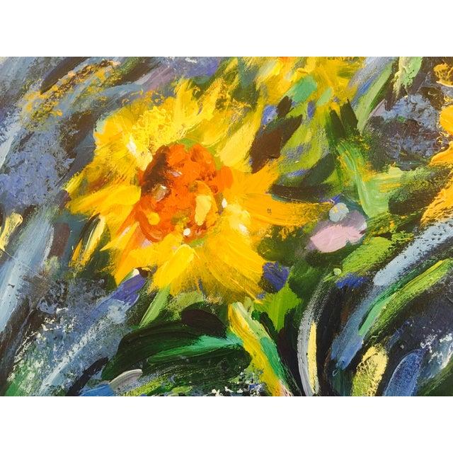Original Impasto Floral Painting - Image 4 of 6