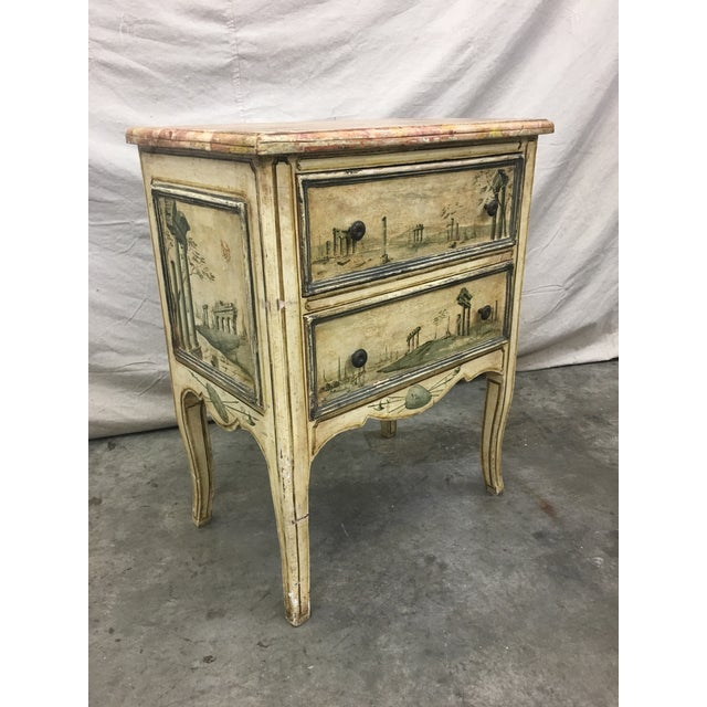 19th C Venetian Petite Painted Chest of Drawers - Commode For Sale - Image 12 of 12