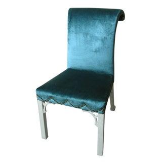Silk Velvet George III Style Chair