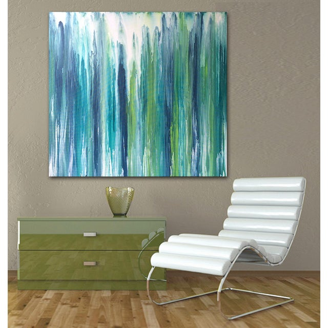 'Waterfall' Original Abstract Painting by Linnea Heide - Image 7 of 8