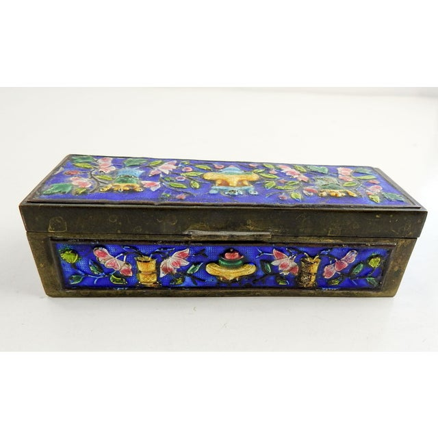 Early 20th Century Vintage Chinese Enamel Box For Sale - Image 5 of 7