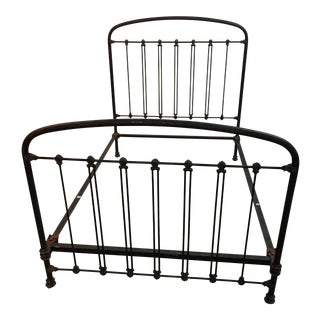 Antique Wrought Iron Twin Siz Bed