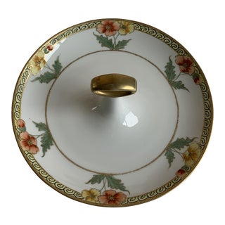 Gold-Gilt Flowers Serving Dish For Sale