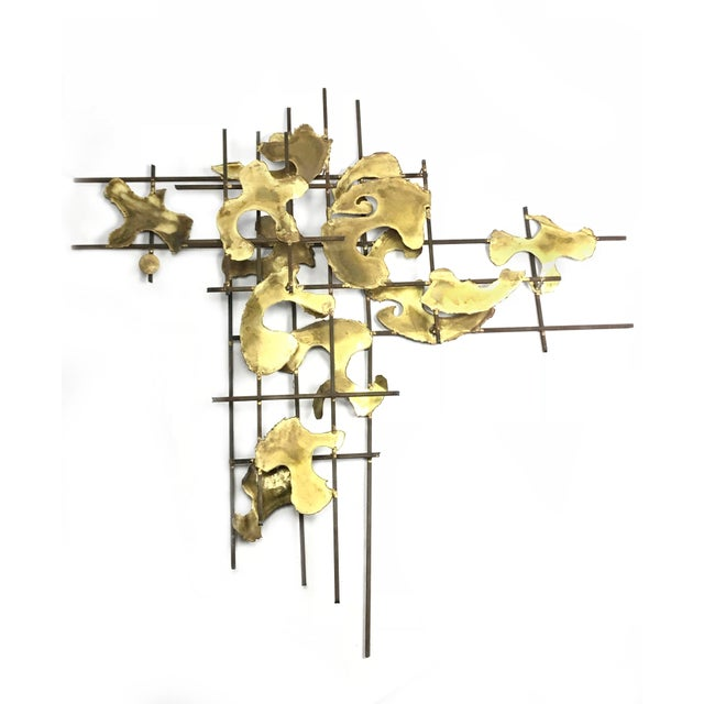 Vintage Authentic Art Piatt Signed Mid-Century Brutalist Wall Sculpture Piece For Sale In Los Angeles - Image 6 of 6