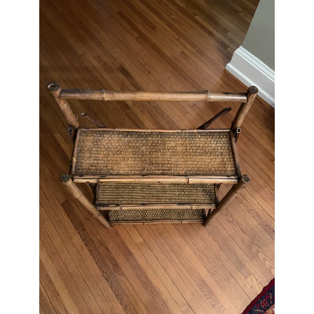Early 20th Century Bamboo Hanging Shelf For Sale - Image 4 of 5