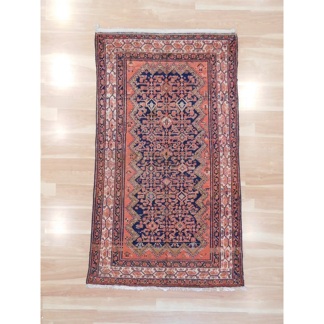 Vintage Persian Malayer Wool Rug - 3′9″ × 7′ For Sale - Image 5 of 5