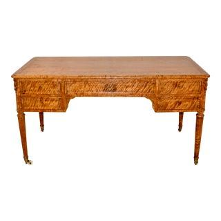 19th C Satin Birch Desk For Sale