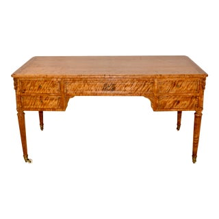 19th Century Satin Birch Desk For Sale
