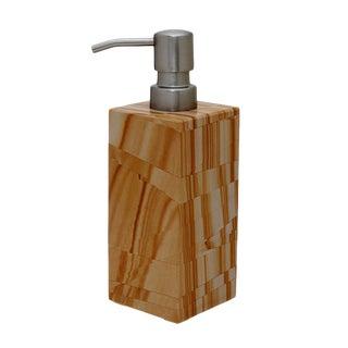 Tan Marble Soap Dispenser