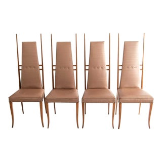 1950s Vintage Gio Ponti Style Dining Chairs- Set of 4 For Sale