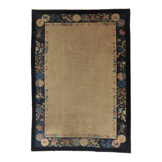 Antique Hand Knotted Chinese Rug For Sale