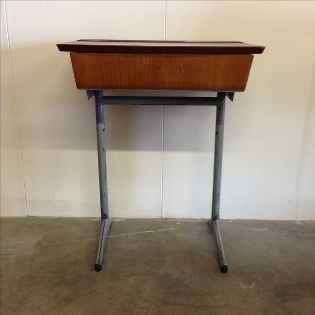 This vintage Mid-Century school desk originally purchased in Belgium is the  perfect item to - Vintage 1960s Children's School Desk Chairish
