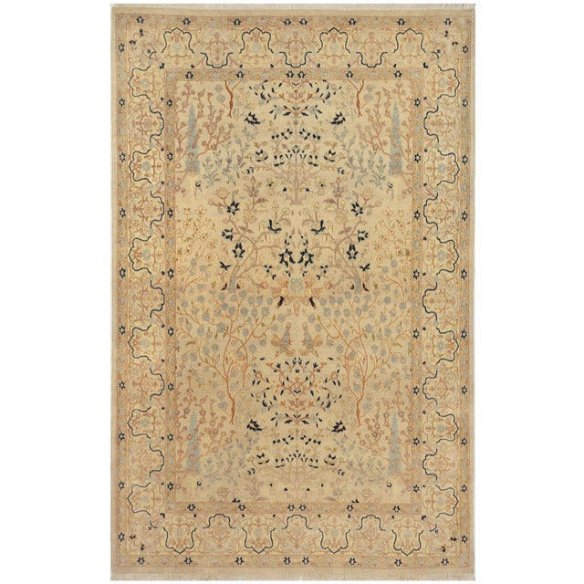 Islamic Mansour Exquisite Handmade Tabriz Rug - 4′8″ × 6′9″ For Sale - Image 3 of 3