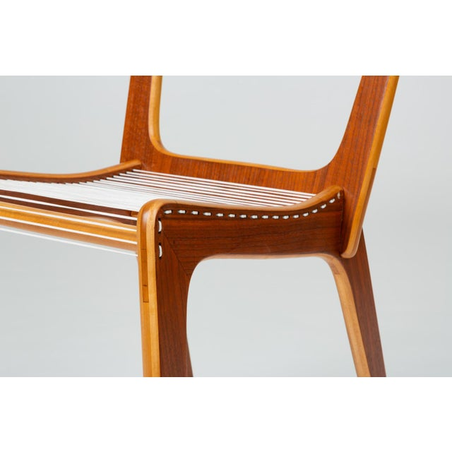 Pair of Canadian Modernist Cord Chairs by Jacques Guillon For Sale - Image 10 of 13