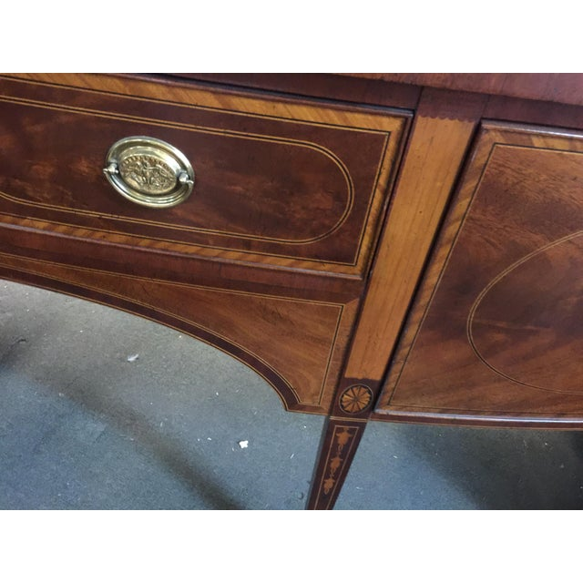 Brass Baker Furniture Sideboard Colonial Williamsburg For Sale - Image 7 of 10