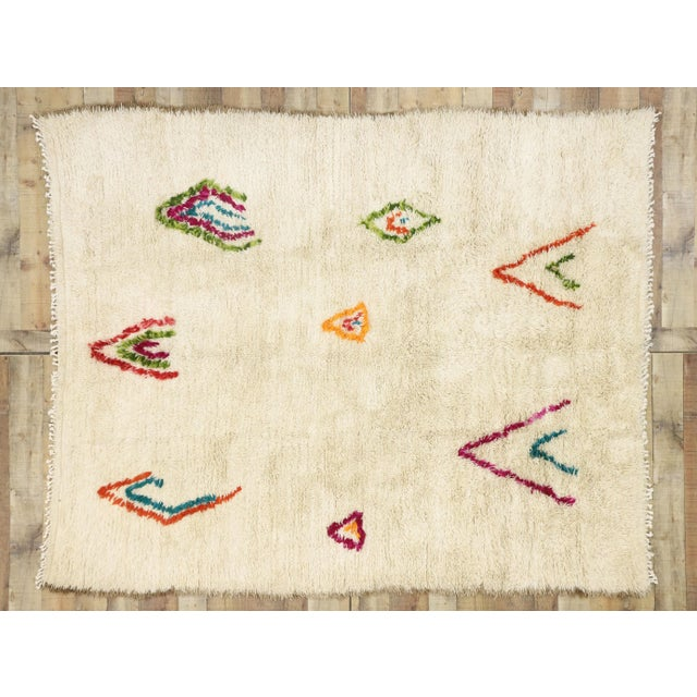 Tan Moroccan Contemporary Berber Azilal Rug - 06'08 X 08'00 For Sale - Image 8 of 10