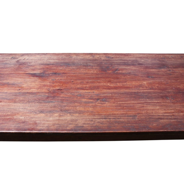 Large Rustic Farm Table For Sale - Image 11 of 12