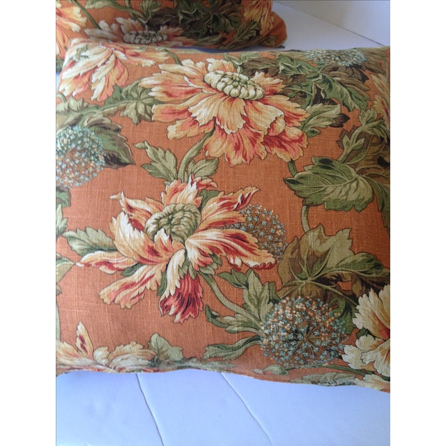 Newport Orange Floral Pillows - S/2 - Image 8 of 8