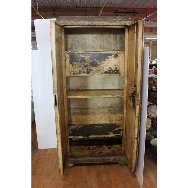 French Early 20th C. Antique French Metal Cabinet For Sale - Image 3 of 3