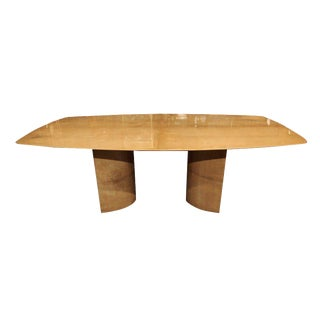 Aldo Tura Lacquered Goatskin Dining Table With Knife-Edge Top For Sale