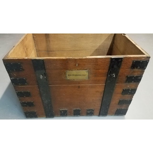 Late 19th Century Late 1800s Oak Silver Trunk For Sale - Image 5 of 13