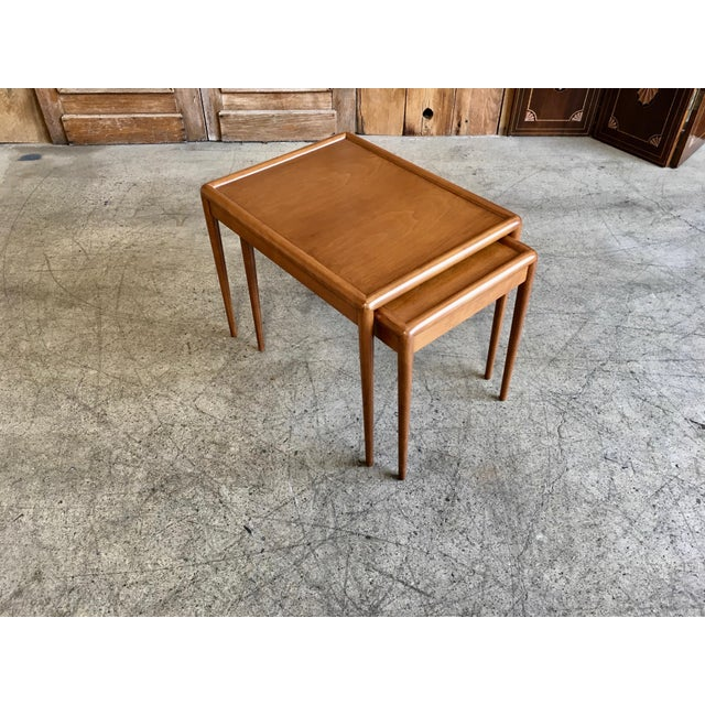 Nesting Tables by t.h. Robsjohn-Gibbings for Widdicomb - A Pair For Sale In Los Angeles - Image 6 of 11
