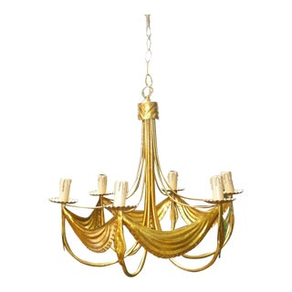 1940s Hollywood Regency Dore Maison Bagues Chandelier - Dorothy Draper Style For Sale
