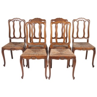 Louis XV-Style Dining Chairs - Set of 6
