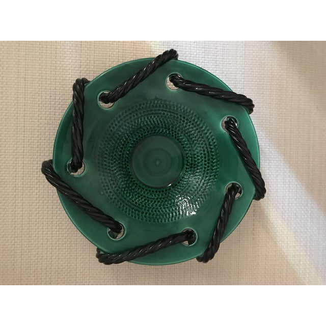 Mid 20th Century Vallauris Green and Black Mid Century Bowl For Sale - Image 9 of 10