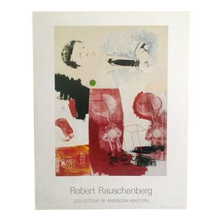 "Robert Rauschenberg Rare Vintage 1990 Offset Lithograph Print Poster ""Quote"" 1964 For Sale"