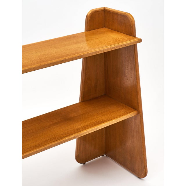 French French Modernist Oak Console For Sale - Image 3 of 10